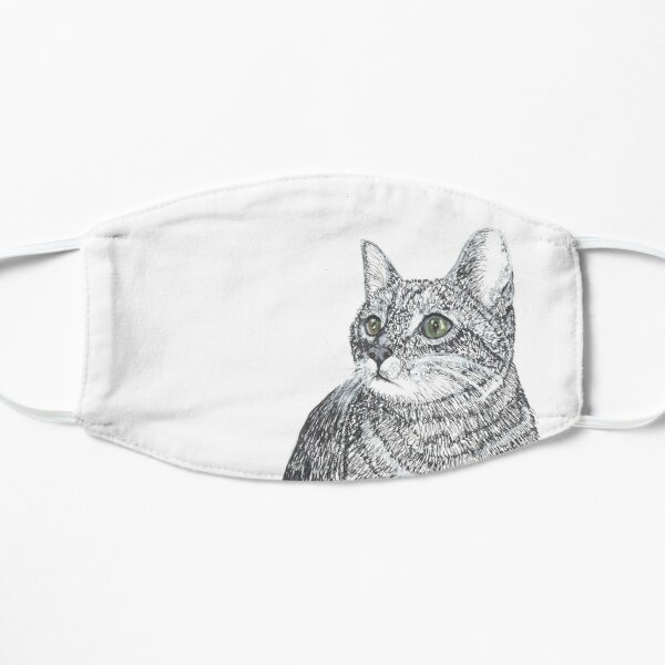 Cat, Pen and Ink Flat Mask