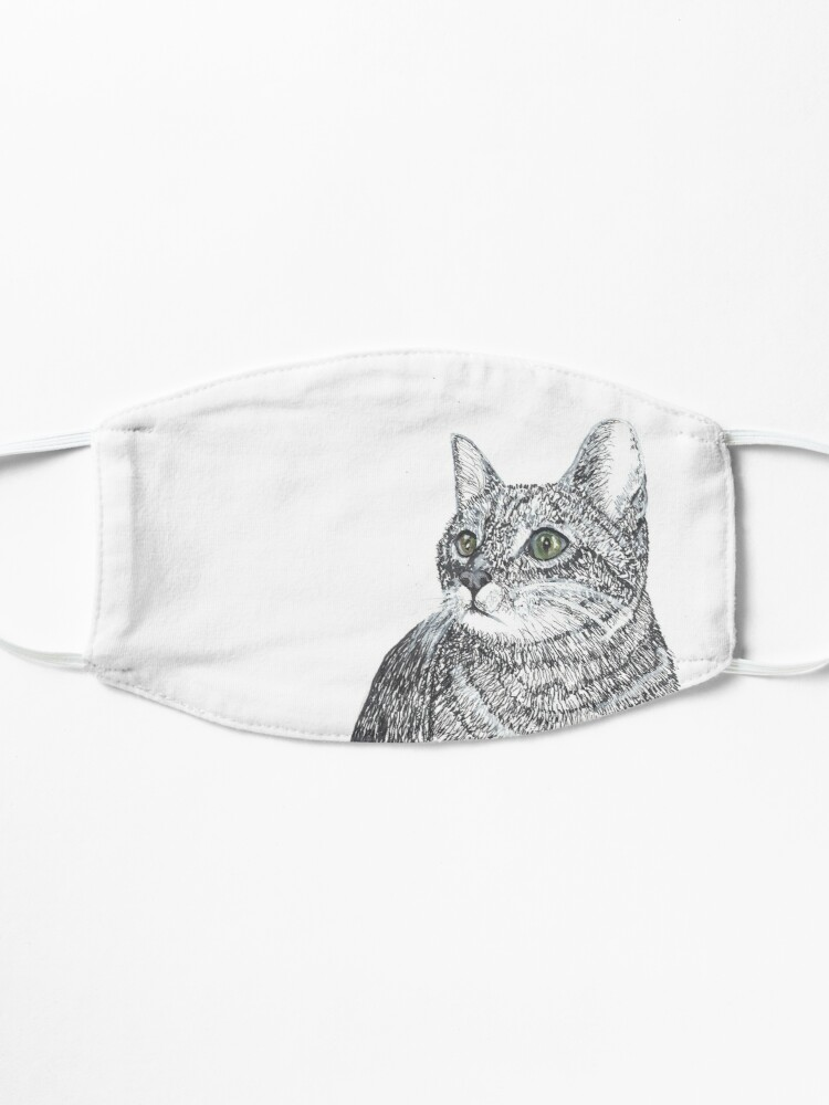 Alternate view of Cat, Pen and Ink Mask