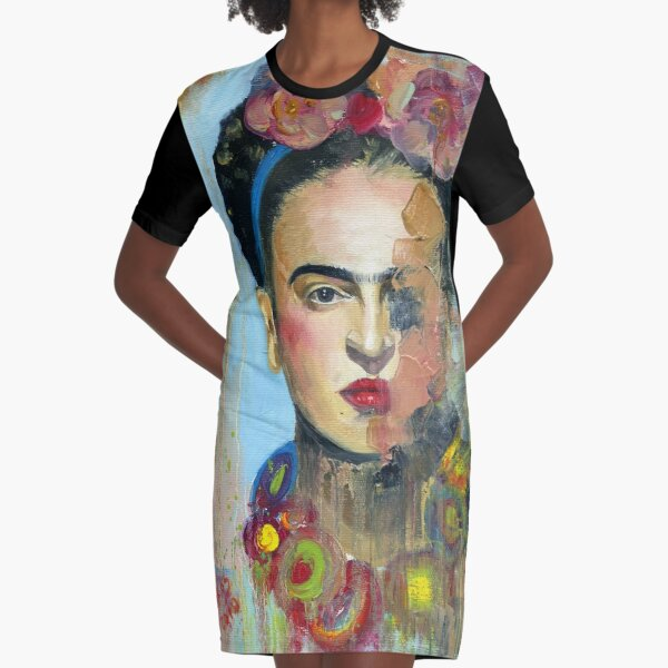 Frida Kahlo Art Graphic T-Shirt Dress