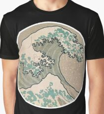 The great wave - Awesome Round design Graphic T-Shirt