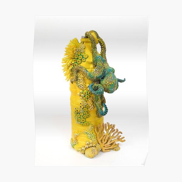 Yellow Exploration, Octopus on Plastic Bottle Poster