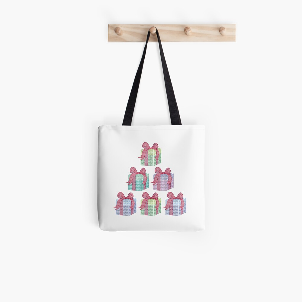 Patterned Present Pile Tote Bag
