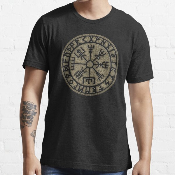 Vegvisir, viking compass, Norse, symbol, protection, nordic, vikings Essential T-Shirt