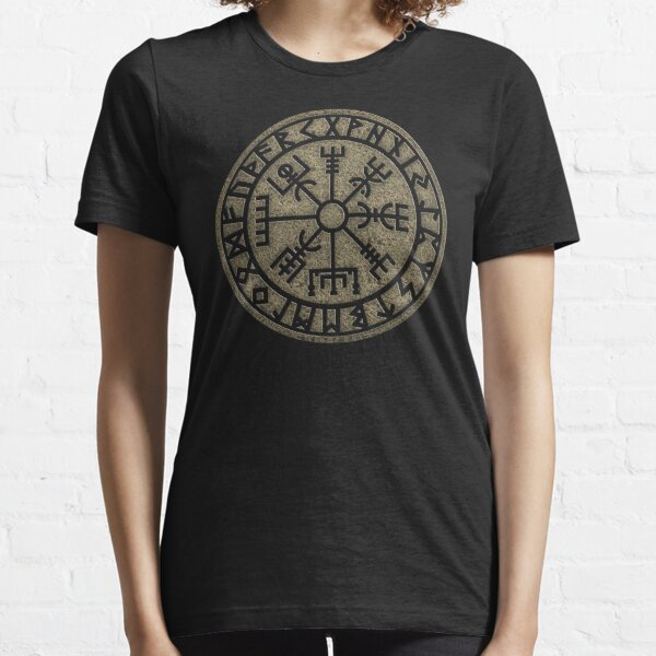 Vegvisir, viking compass, Norse, symbol, protection, nordic, vikings Essential T-Shirt