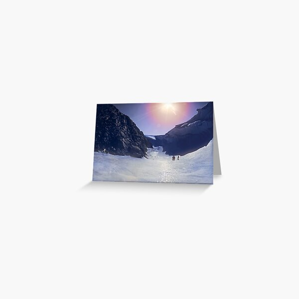 Wind Scour at Fang Peak Greeting Card