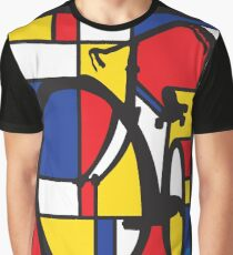 Mondrian Bicycle Graphic T-Shirt