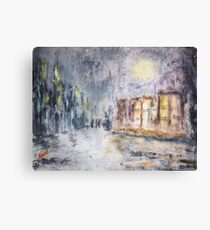 NIGHT IN THE SUBURBS  Canvas Print