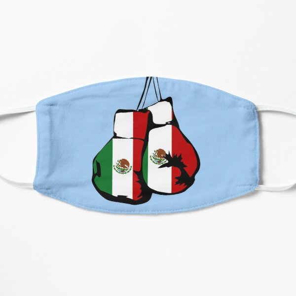 Mexico Flag / Mexican Boxing Gloves Flat Mask
