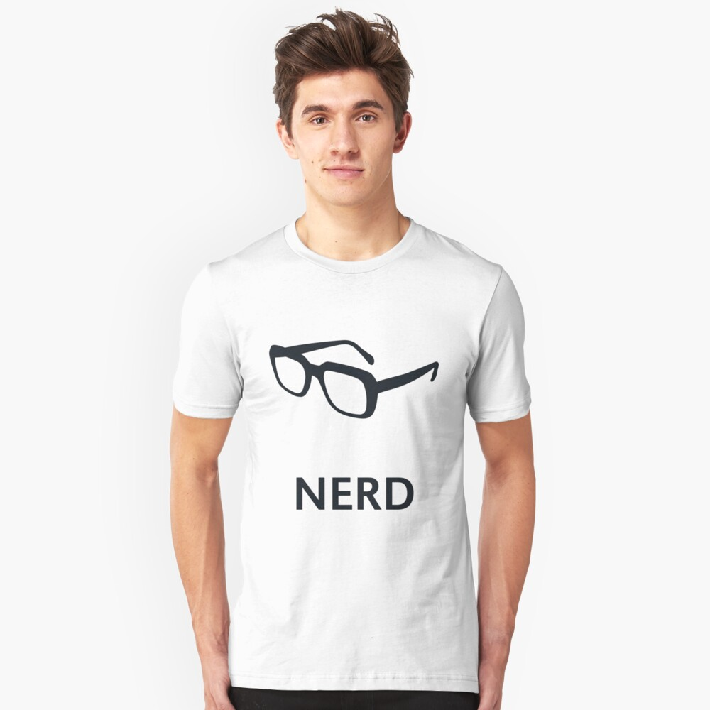 Nerd (Geek / Glasses) Unisex T-Shirt Front