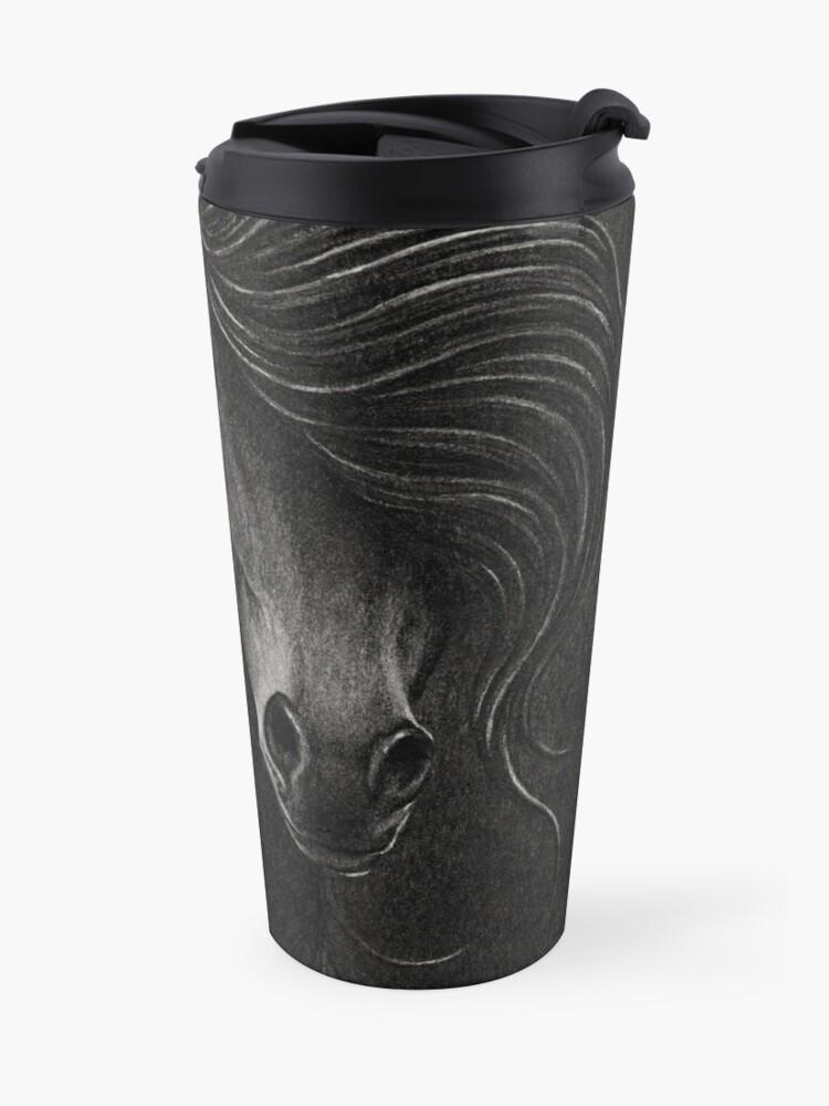 Alternate view of Night Horse Travel Mug