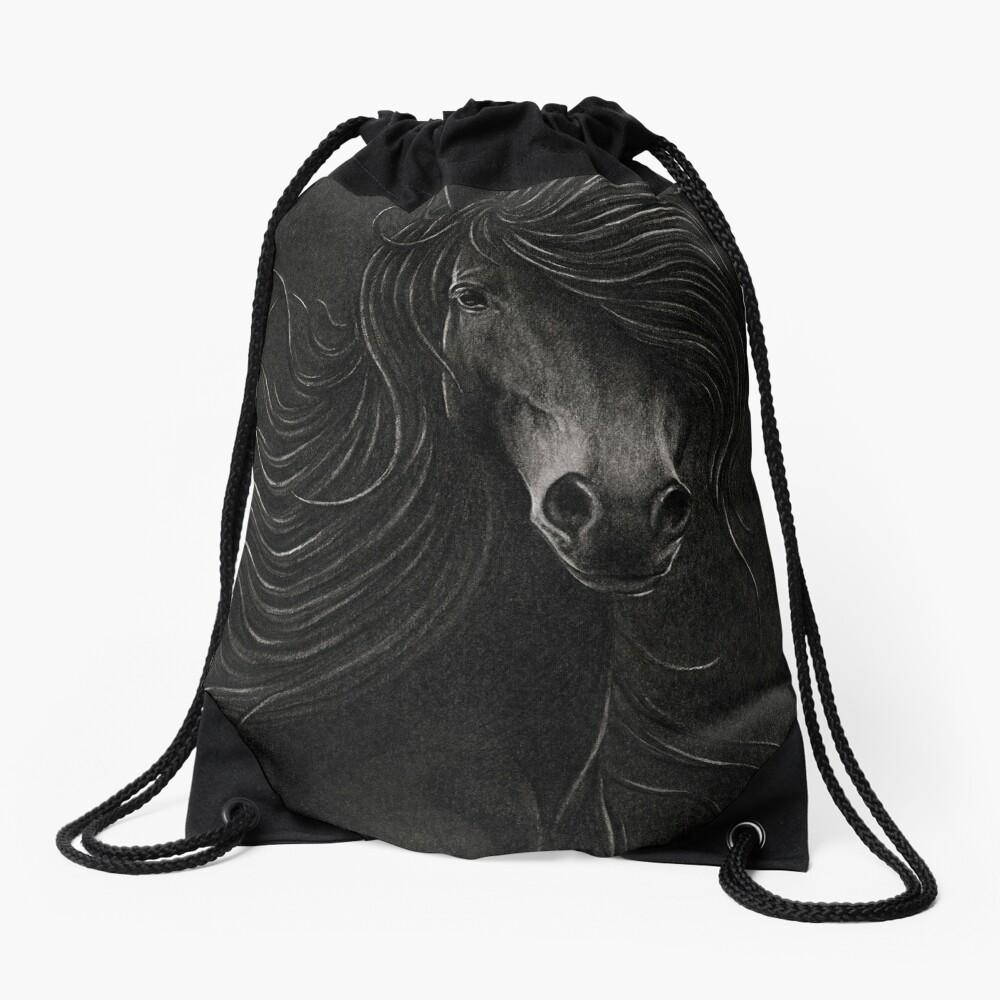 Night Horse Drawstring Bag