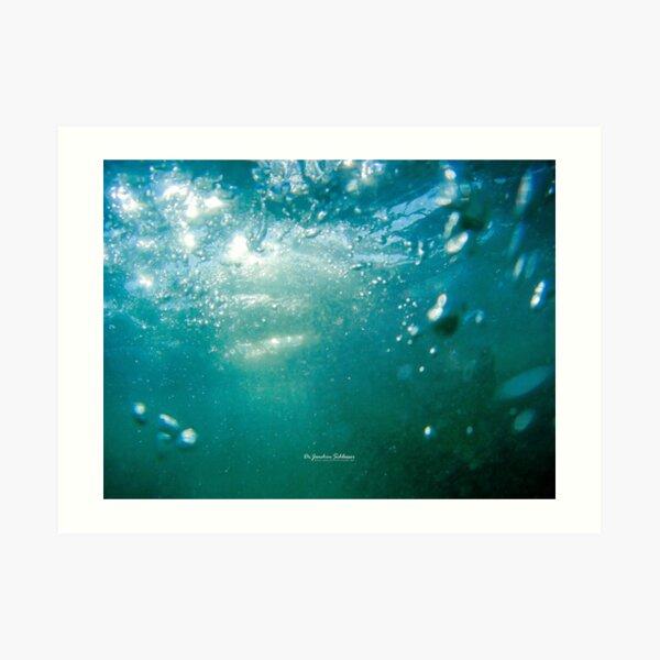 Blasen im Wasser / Bubbles in Water Kunstdruck