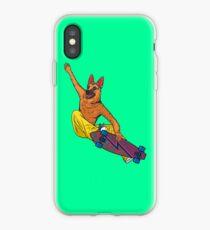 Skater dog iPhone Case