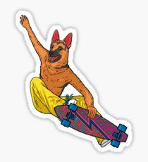 Skater dog Sticker