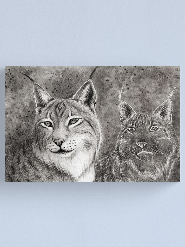 Alternate view of Ever Watchful Eurasian Lynx Canvas Print
