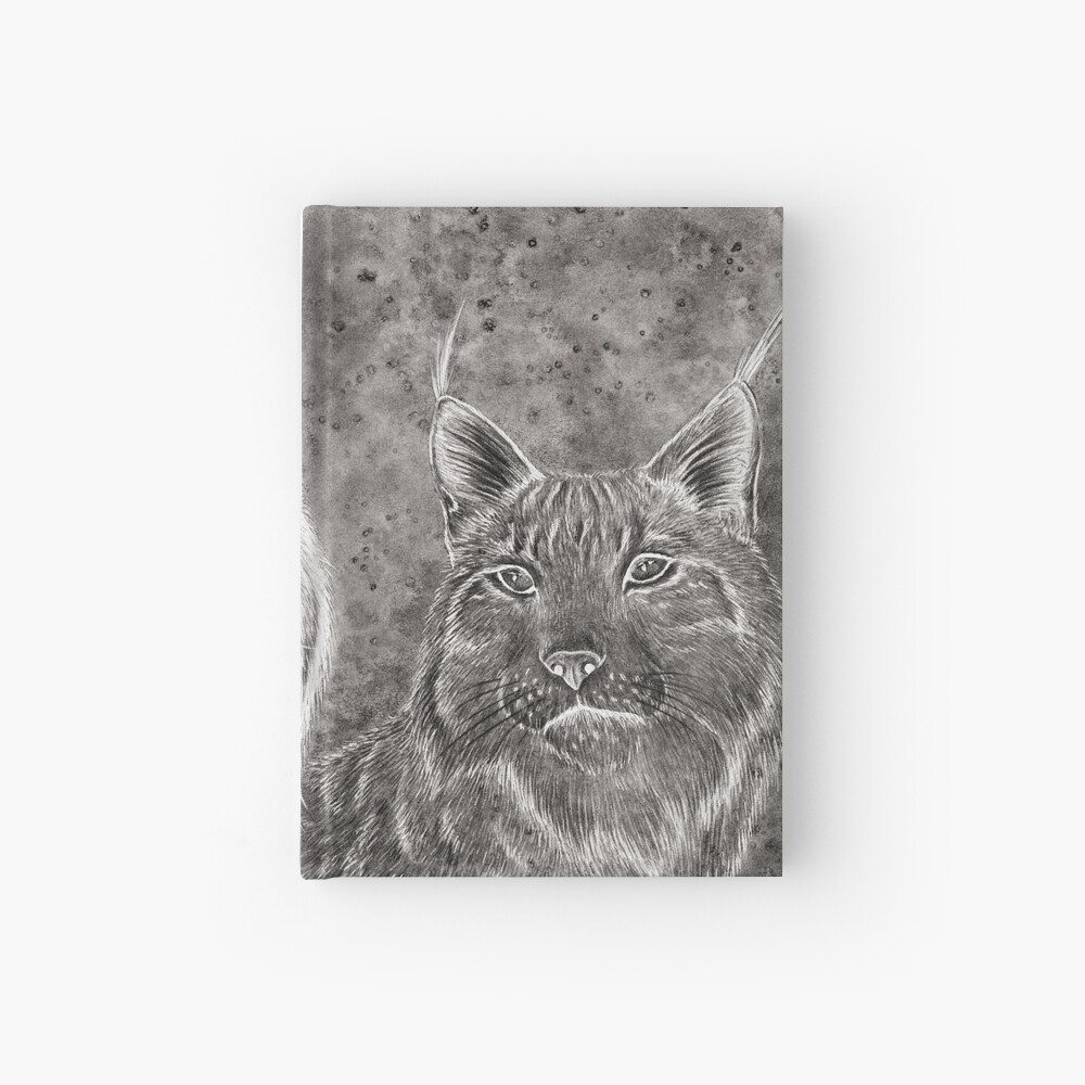 Ever Watchful Eurasian Lynx Hardcover Journal