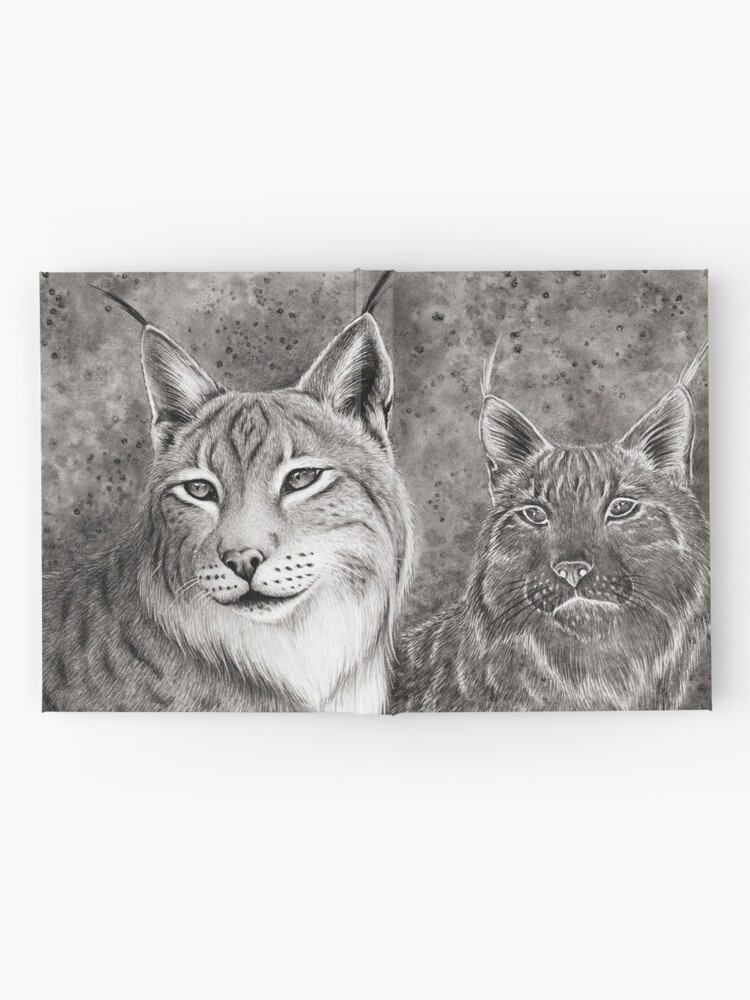 Alternate view of Ever Watchful Eurasian Lynx Hardcover Journal