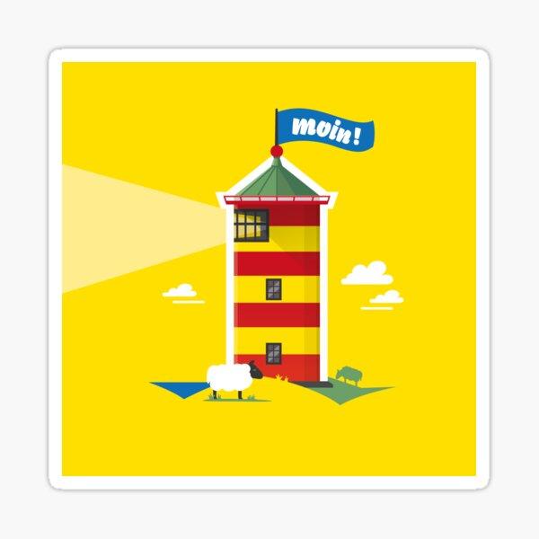 Hello! Lighthouse yellow Sticker