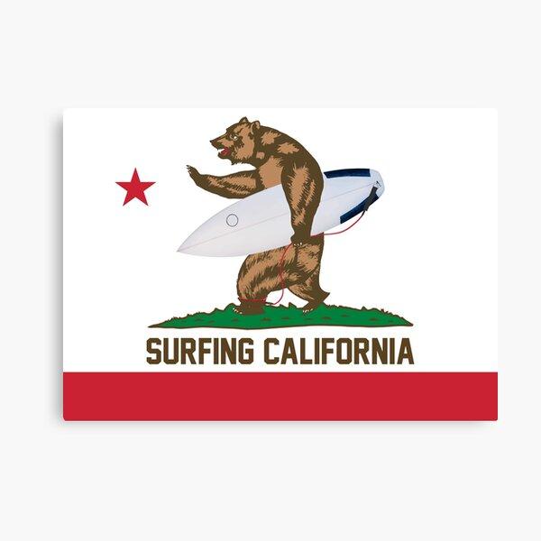Surfeando en California Lienzo