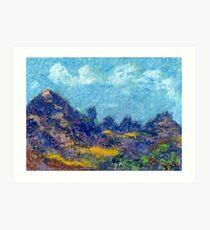 Ridgeline (pastel) Art Print