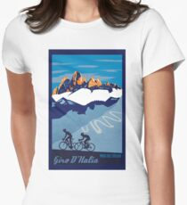Giro D' Italia Retro  Paso Del Stelvio Cycling Poster Womens Fitted T-Shirt