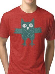 Green Owl Tri-blend T-Shirt