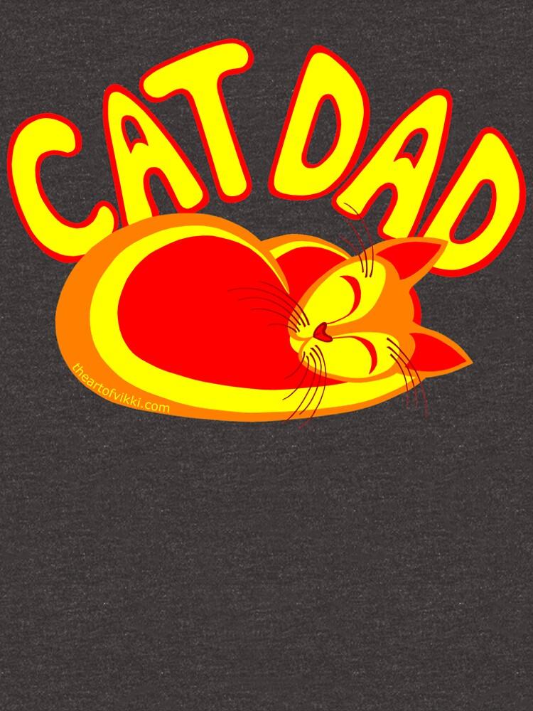 Cat Dad Orange Yellow Red Cute Cat Lover Design by theartofvikki