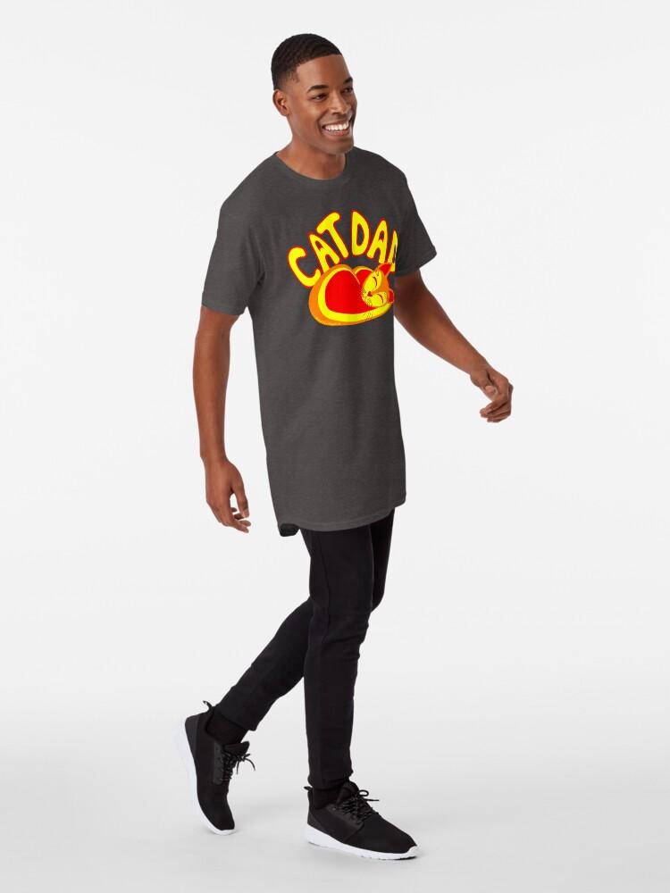 Alternate view of Cat Dad Orange Yellow Red Cute Cat Lover Design Long T-Shirt