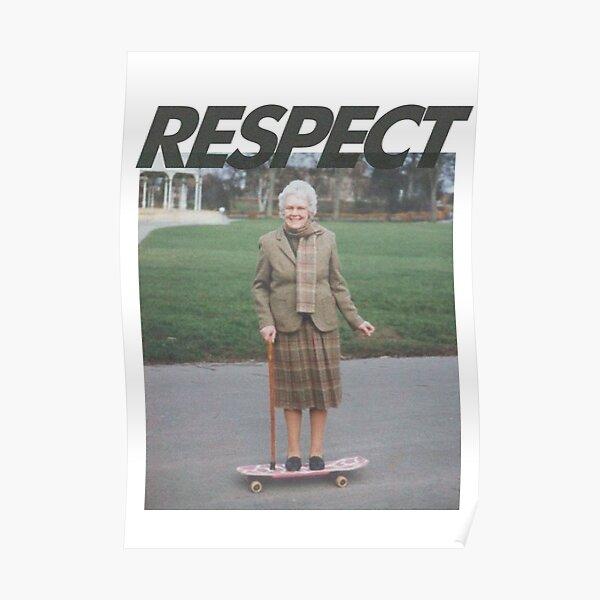 Respectez le patineur Poster