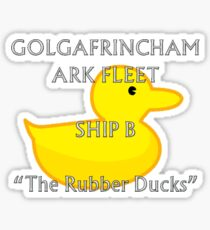 Golgafrimcham B-Ark (Hitchhikers Guide to the Galaxy) Sticker