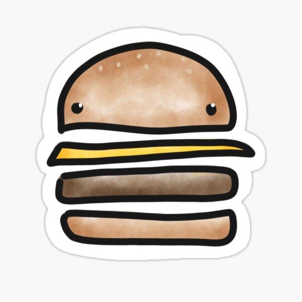 Happy Burger Face Sticker