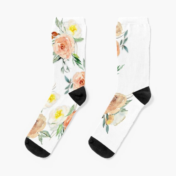 Floowyerion Mens Watercolor summer flamingos and flowers Novelty Sports Socks Crazy Funny Crew Tube Socks