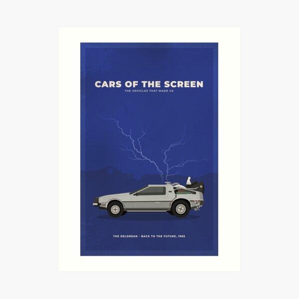 Cars of the Screen - DMC Time Traveler  Art Print
