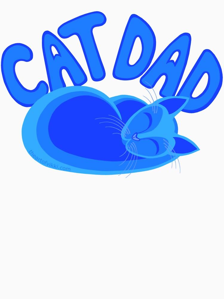 Cat Dad Blue Funny Cat Lover Design by theartofvikki