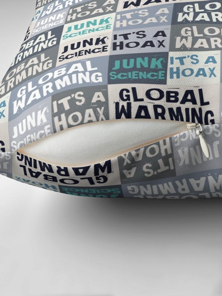 Alternate view of Global Warming Hoax  Floor Pillow