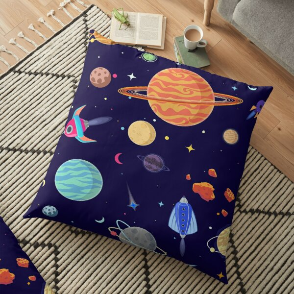 Planets Pattern Floor Pillow