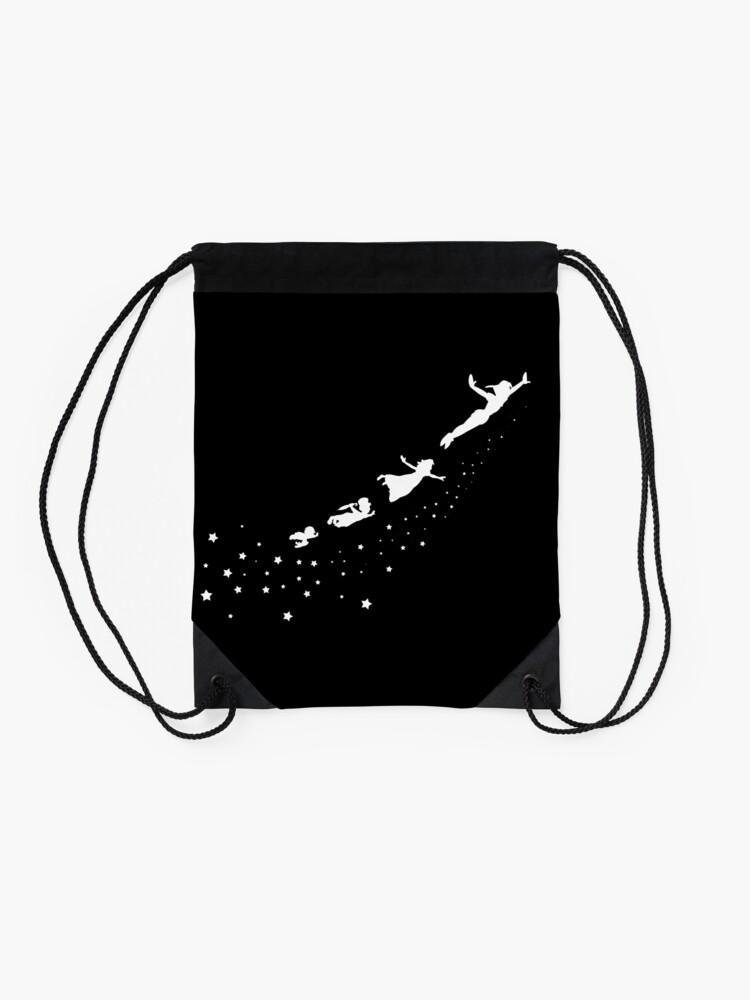 Alternate view of Peter Pan Flying Drawstring Bag