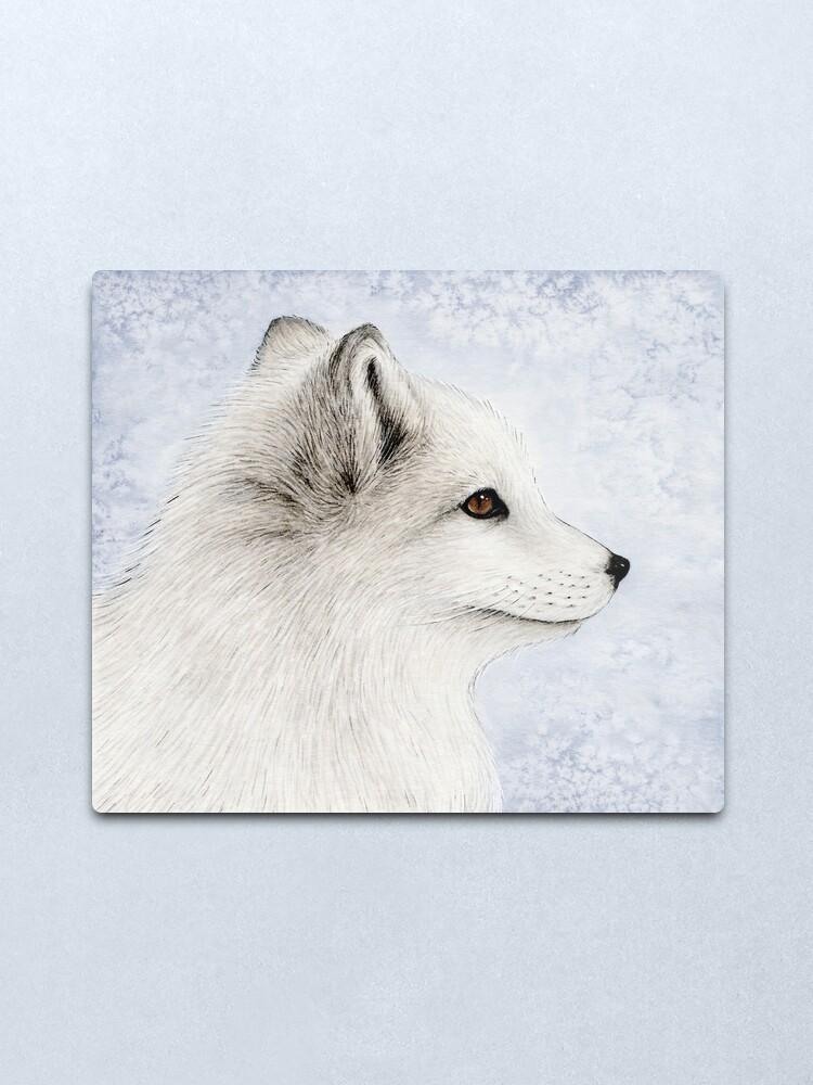 Alternate view of Polar Fox Profile Metal Print