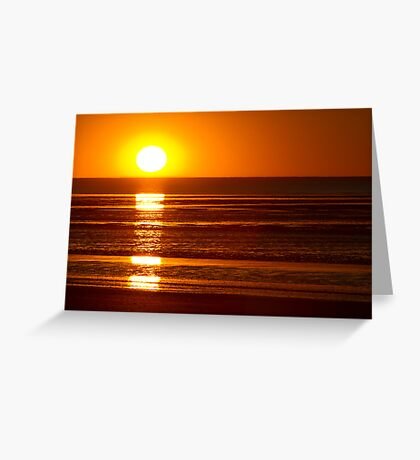 Sunset - Eighty Mile Beach - WA Greeting Card