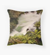 Okere Falls Throw Pillow