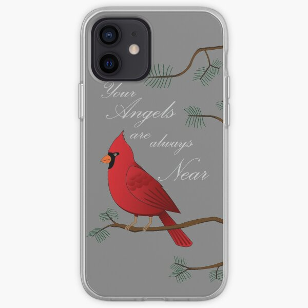 Your Angels are Near with a Cardinal iPhone Soft Case
