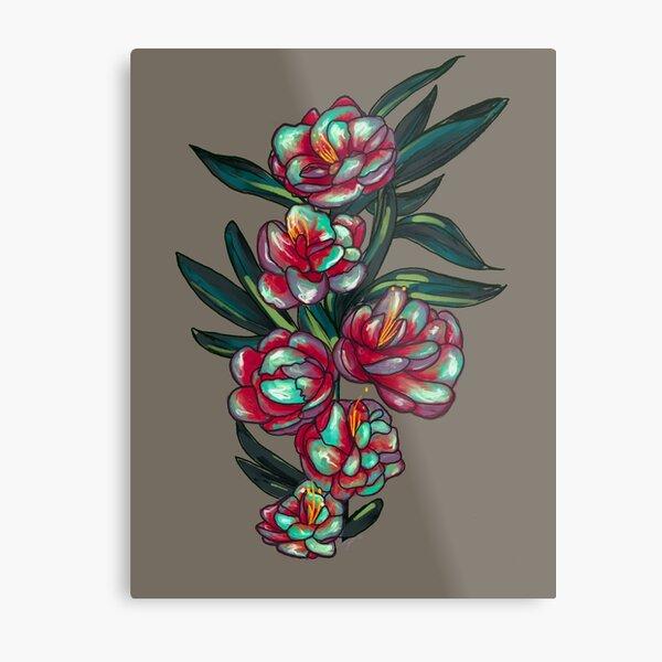 Flower- Slate Metal Print