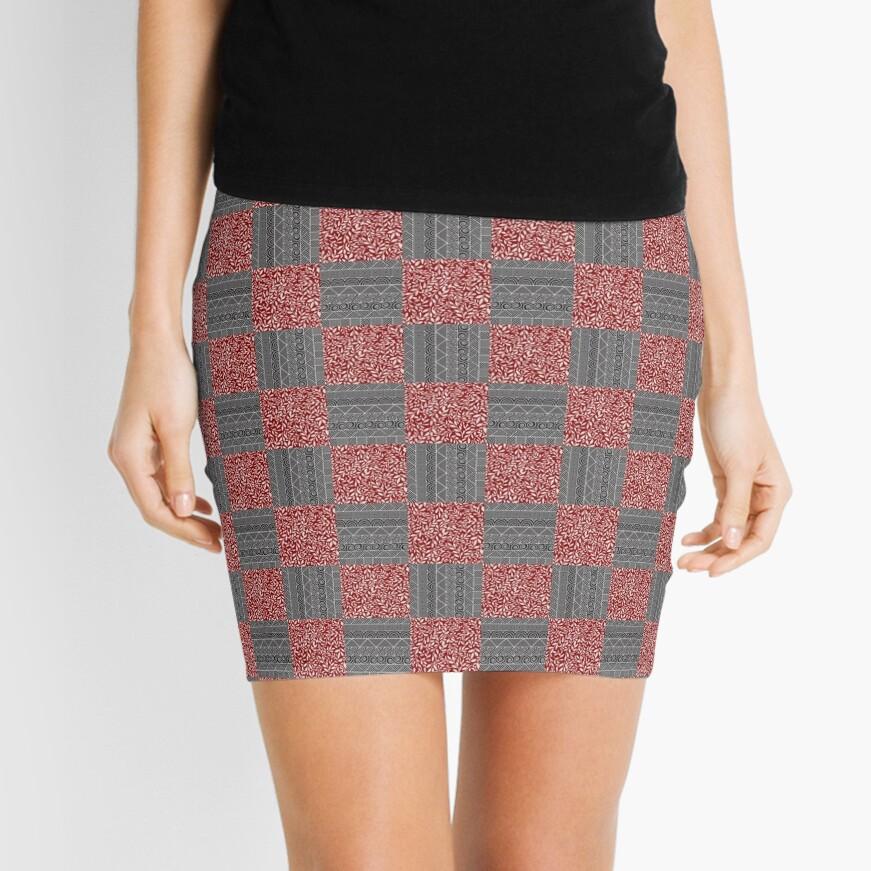 Checkered Pattern Play Mini Skirt
