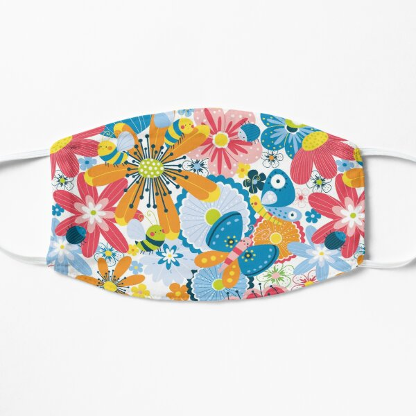 flowers and butterflies Mask