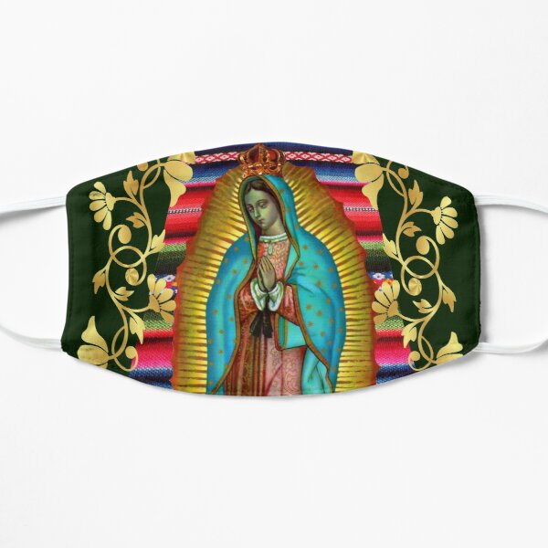 Our Lady of Guadalupe Virgin Mary Zarape 08 Mask