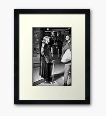 Friendly Exchange Framed Print