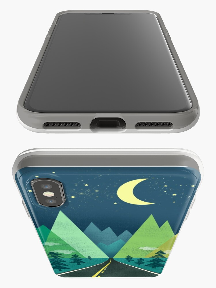Alternate view of the Long Road at Night iPhone Case & Cover