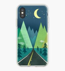the Long Road at Night iPhone Case