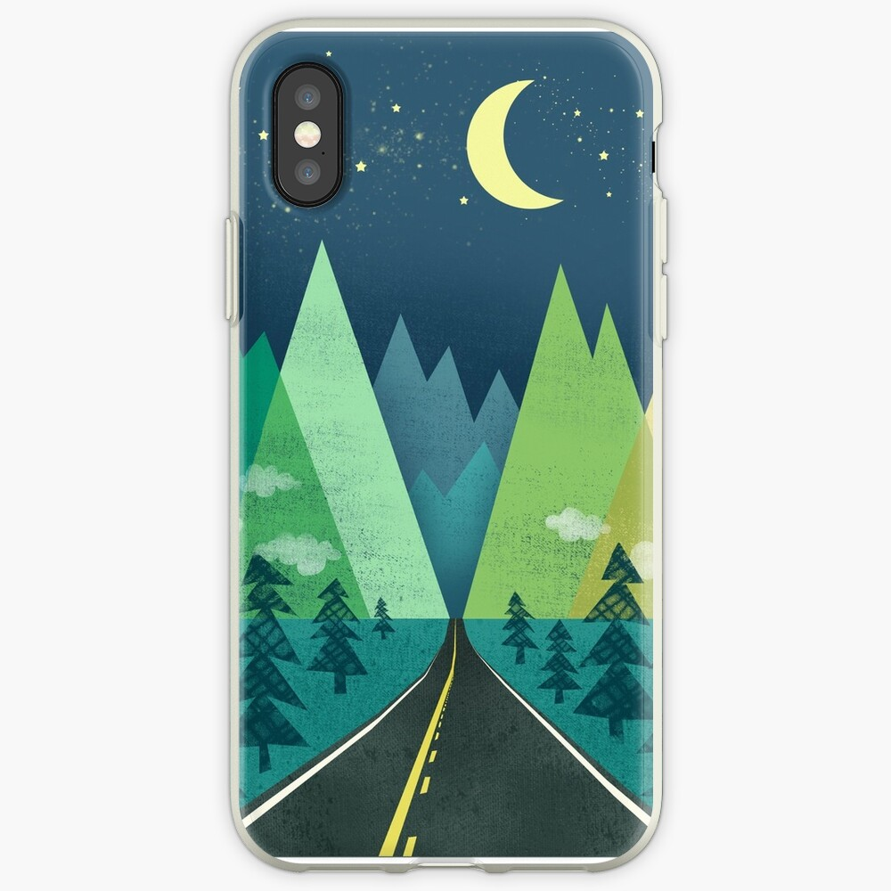 the Long Road at Night iPhone Case & Cover