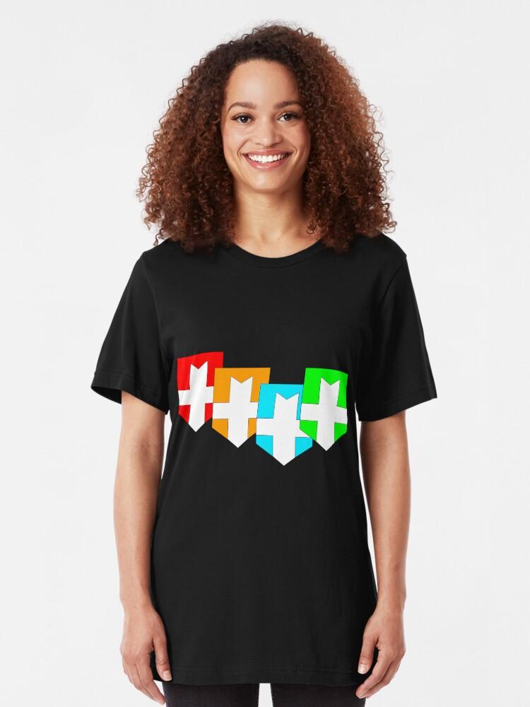 Vista alternativa de Camiseta ajustada Caballeros elementales